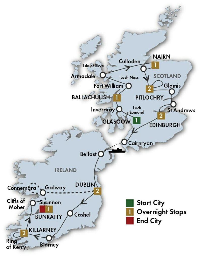 Scottish and Irish Dream 13 to 14 Days -